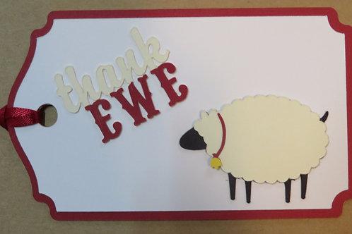 Thank Ewe Gift Tag
