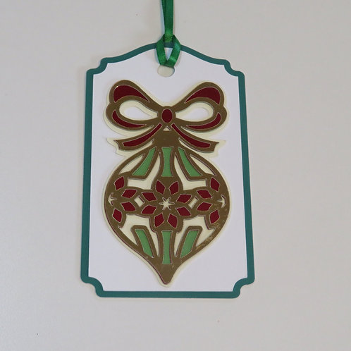 Ornament with Floral Pattern Gift Tag
