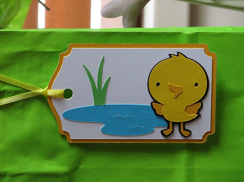 Duckling and Pond Gift Tag