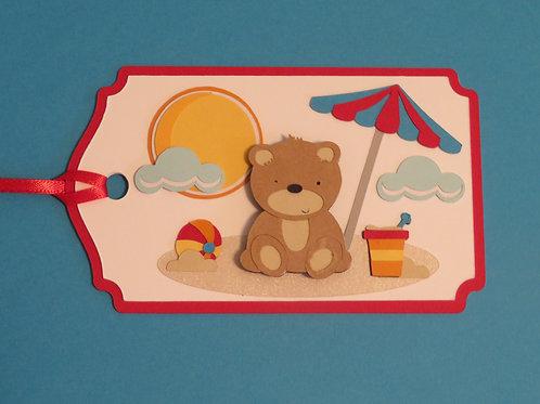 Bear Cub at the Beach Gift Tag