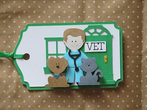 Veterinarian Vet Office Dog Cat Gift Tag