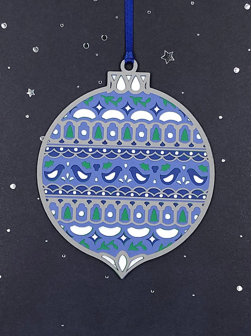 Ornate Scandinavian-Style Ornament Gift Tag
