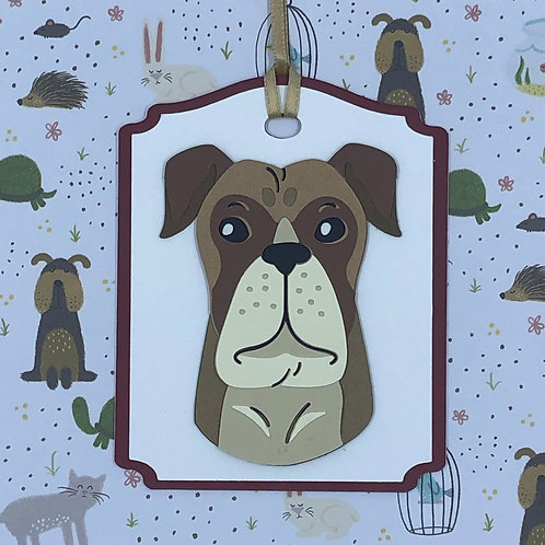 Boxer Face Gift Tag