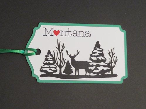 Heart in Montana Buck Deer in Forest Silhouette
