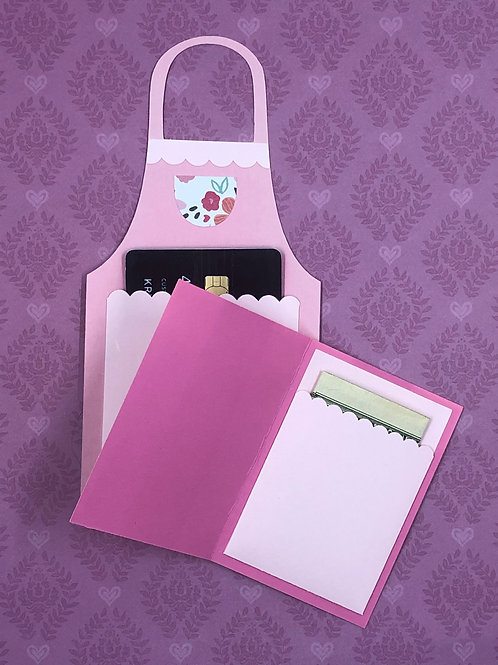 Cute Apron Cash/Gift Card Holder