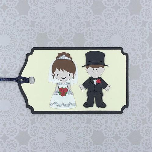 Bride and Groom Wedding Gift Tag