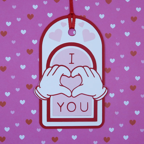 Hands I Heart You Gift Tag