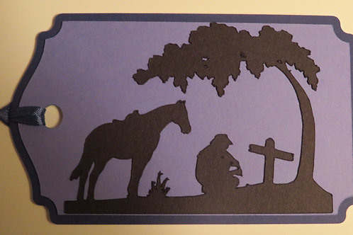 Paying Last Respects Silhouette Gift Tag