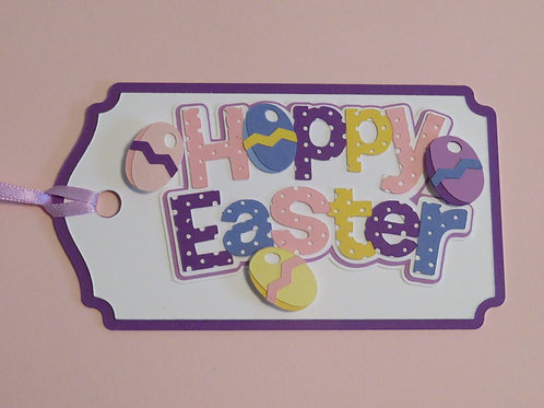 Polka Dot Happy Easter Gift Tag