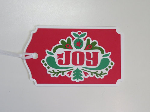 Scandinavian Inspired Joy Christmas Gift Tag