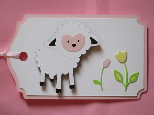 Little Lamb in Spring Gift Tag