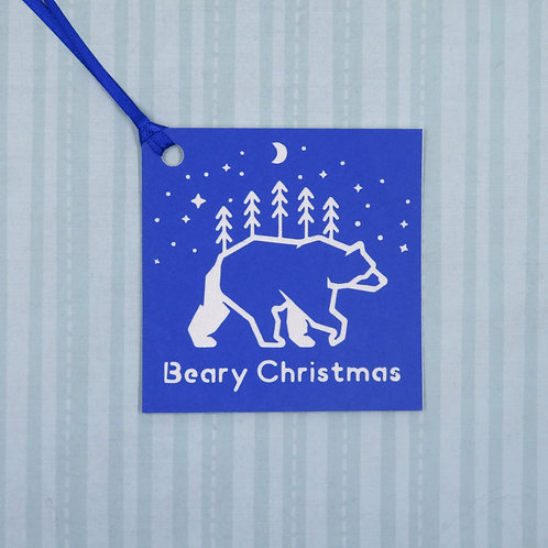 Beary Christmas Gift Tag