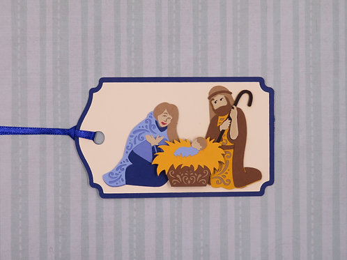 Holy Family with Filigree Details Gift Tag