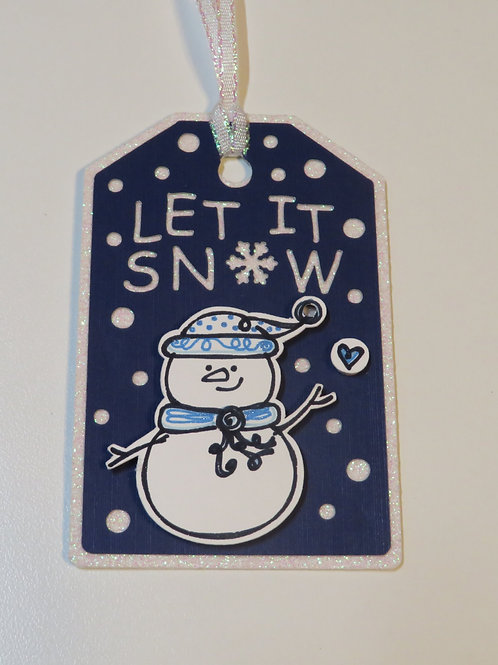 Let It Snow Snowman Gift Tag