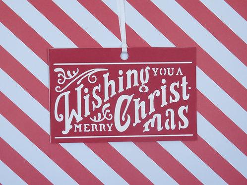 Wishing You A Merry Christmas Gift Tag