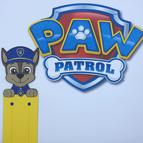 Chase from Paw Patrol Bookmark