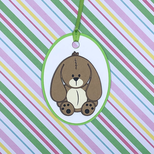 Stuffed Bunny Rabbit Gift Tag