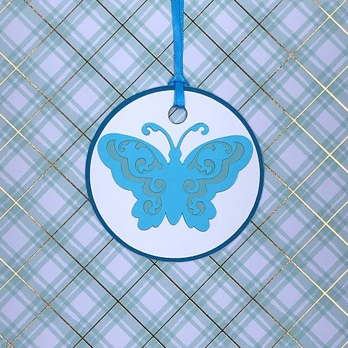 Butterfly in Blues Gift Tag