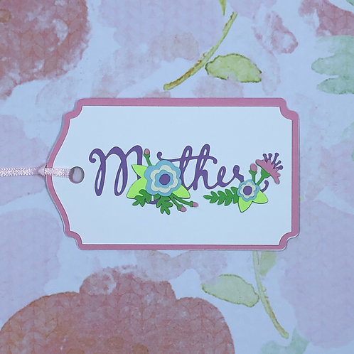 Mother Floral Gift Tag