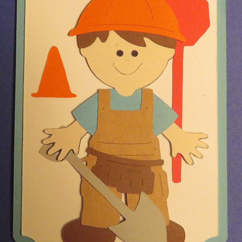 Street Dept Road Crew Worker Gift Tag