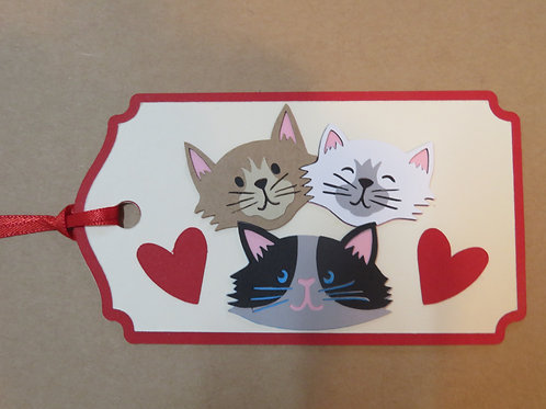 Trio of Cats Gift Tag