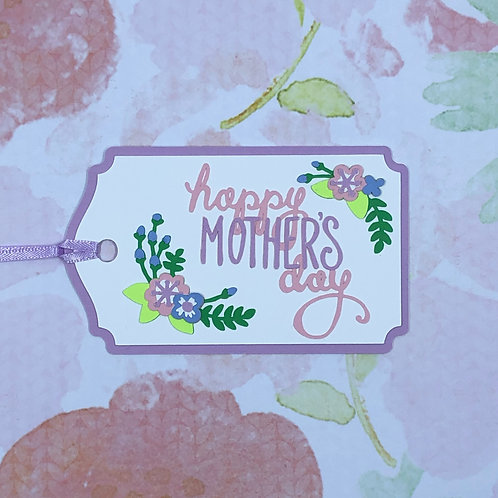 Happy Mother's Day Floral Gift Tag