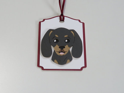 Dachshund Doxie Face Gift Tag
