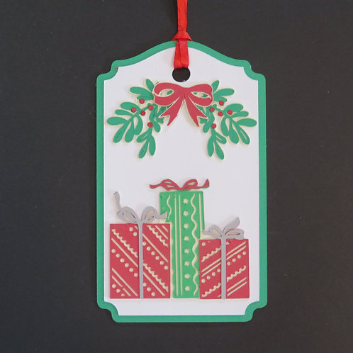 Presents Under the Mistletoe Gift Tag