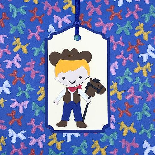 Stick Pony Cowboy Gift Tag