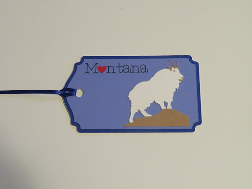 Heart in Montana Mountain Goat Gift Tag