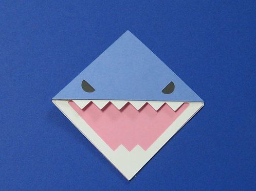 Scary Shark Corner Bookmark
