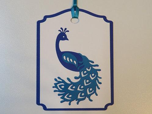 Peacock Gift Tag