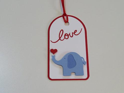 Elephant Love Gift Tag