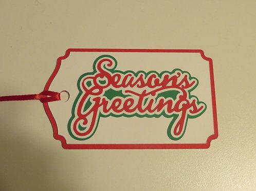 Season's Greetings Gift Tag