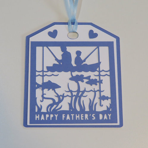 Happy Father's Day Fishing Gift Tag