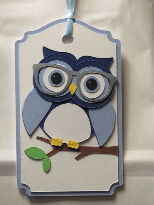 Wise Owl Gift Tag