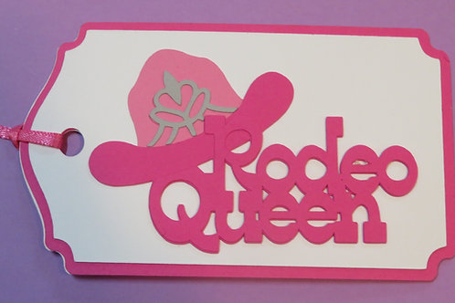 Rodeo Queen Gift Tag