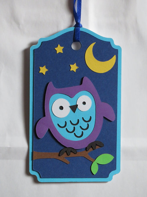 Night Owl Gift Tag