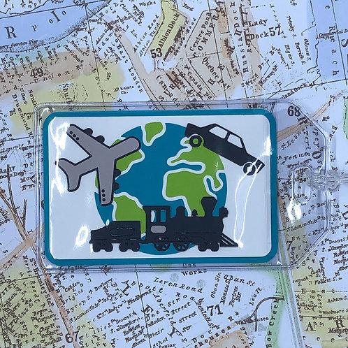 Plane, Train, or Automobile World Traveler Luggage Tag