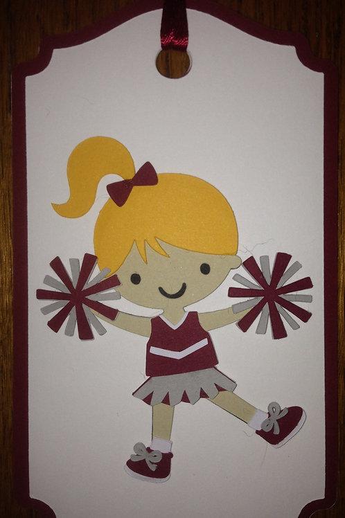 Cheerleader Gift Tag