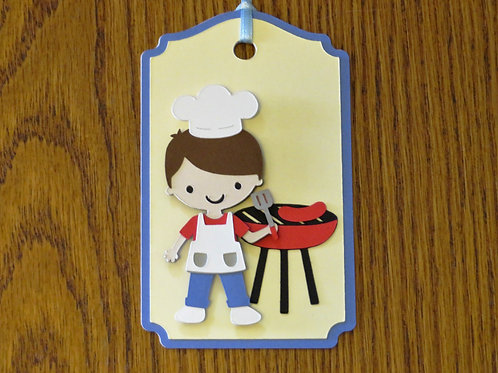 Grill Master BBQ Gift Tag