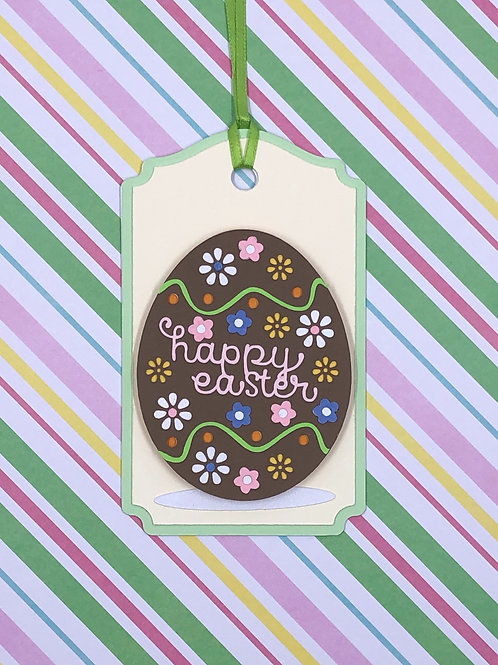 Happy Easter Chocolate Egg Gift Tag