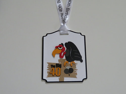 The Big 40 Birthday Vulture Gift Tag
