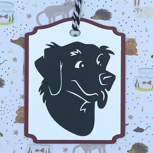 Happy Dog Face Gift Tag