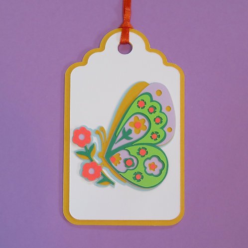 Butterfly Profile Gift Tag