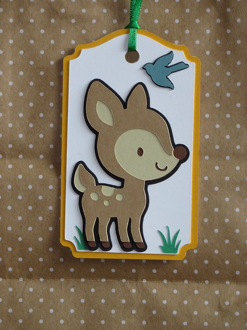 Woodland Forest Animal Fawn Deer Gift Tag