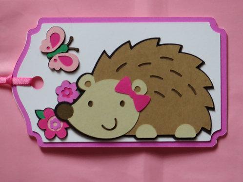 Happy Hedgehog Gift Tag