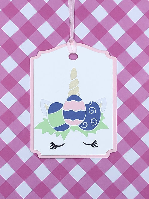 Easter Unicorn Face Gift Tag