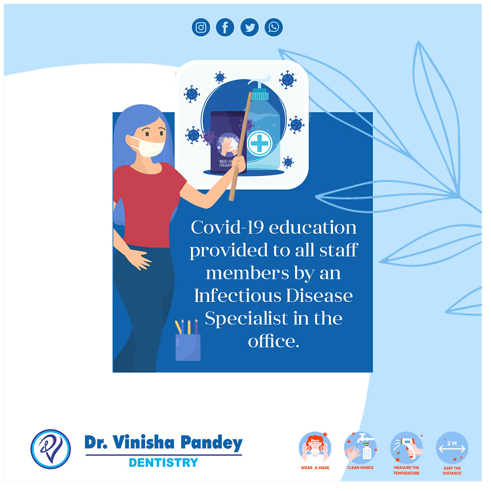covid-19 precaution by dentist