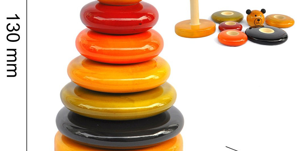 Wooden Stacker Toy - Cubby